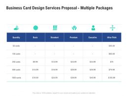 Business Card Design Services Proposal Multiple Packages Ppt Powerpoint Show