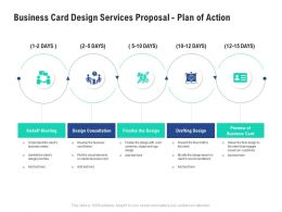 Business Card Design Services Proposal Plan Of Action Ppt Powerpoint Presentation Format