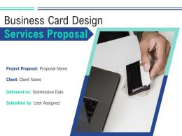 Business Card Design Services Proposal Powerpoint Presentation Slides