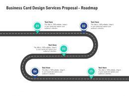 Business Card Design Services Proposal Roadmap Ppt Powerpoint Presentation Outline