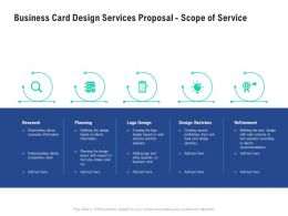 Business Card Design Services Proposal Scope Of Service Ppt Powerpoint Master Slide