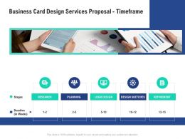 Business Card Design Services Proposal Timeframe Ppt Powerpoint Presentation Formats