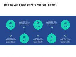 Business Card Design Services Proposal Timeline Ppt Powerpoint Presentation Demonstration