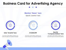 Business Card For Advertising Agency Infographic Template