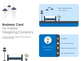 Business Card For Interior Designing Company Infographic Template