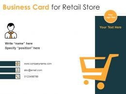 Business Card For Retail Store Infographic Template
