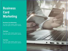 Business Card Marketing Ppt Powerpoint Presentation Slides Graphics Pictures Cpb