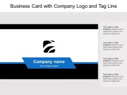 Business Card With Company Logo And Tag Line