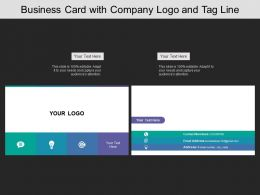 Business Card With Company Logo Email Address And Contact Number