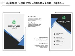 Business Card With Company Logo Tagline Job Title And Website