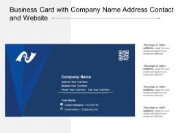 Business Card With Company Name Address Contact And Website