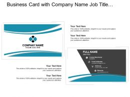 Business Card With Company Name Job Title And Email Address
