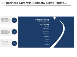 Business Card With Company Name Tagline And Address