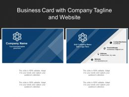 Business Card With Company Tagline And Website