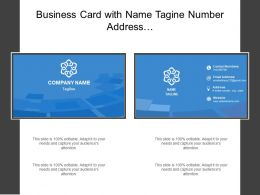 Business Card With Name Tagine Number Address And Email