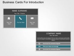 Business Cards For Introduction Flat Powerpoint Design