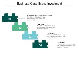 Business Case Brand Investment Ppt Powerpoint Presentation Slides Good Cpb