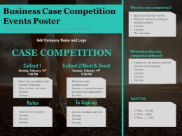 Business Case Competition Events Poster