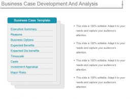 Business Case Development And Analysis Powerpoint Templates