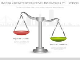 Business Case Development And Cost Benefit Analysis Ppt Templates