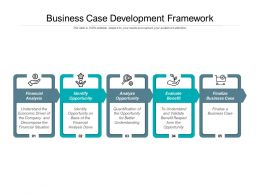 Business Case Development Framework