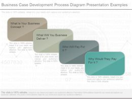 Business Case Development Process Diagram Presentation Examples