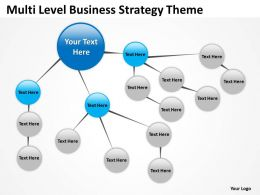 Business Case Diagram Multi Level Strategy Theme Powerpoint Slides 0523