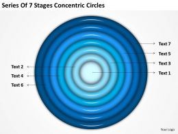 Business Case Diagram Series Of 7 Stages Concentric Circles Powerpoint Slides