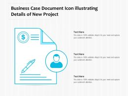 Business Case Document Icon Illustrating Details Of New Project