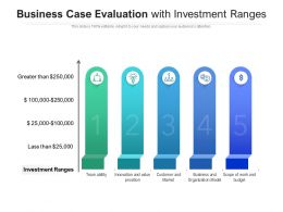 Business Case Evaluation With Investment Ranges