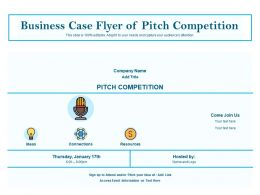 Business Case Flyer Of Pitch Competition