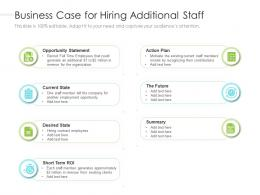 Business Case For Hiring Additional Staff