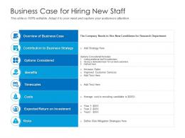 Business Case For Hiring New Staff