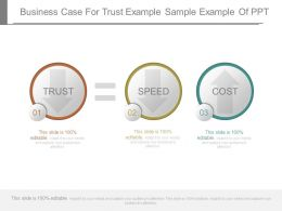 Business Case For Trust Example Sample Example Of Ppt