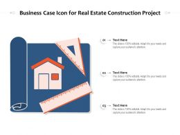 Business Case Icon For Real Estate Construction Project