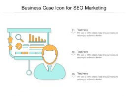 Business Case Icon For SEO Marketing