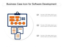 Business Case Icon For Software Development