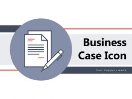 Business Case Icon Illustrating Resource Management Construction Marketing