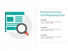 Business Case Icon With Magnifying Glass