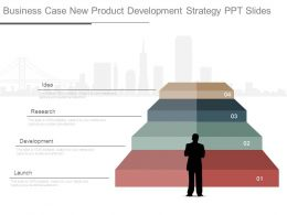 Business Case New Product Development Strategy Ppt Slides