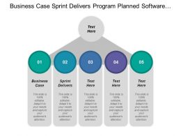 Business Case Sprint Delivers Program Planned Software Program
