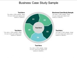 Business Case Study Sample Ppt Powerpoint Presentation Model Master Slide Cpb