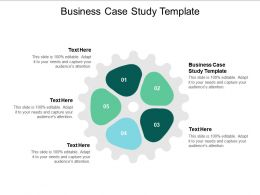 Business Case Study Template Ppt Powerpoint Presentation Ideas Pictures Cpb