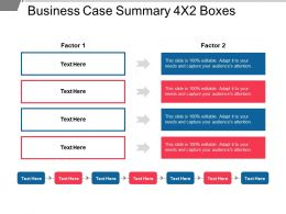 Business Case Summary 4x2 Boxes