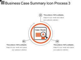 Business Case Summary Icon Process 3