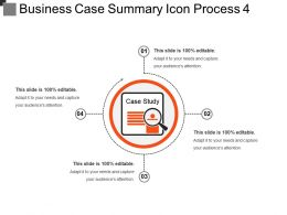 Business Case Summary Icon Process 4