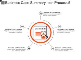 Business Case Summary Icon Process 5