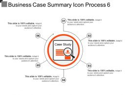 Business Case Summary Icon Process 6