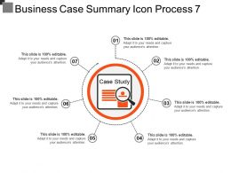 Business Case Summary Icon Process 7