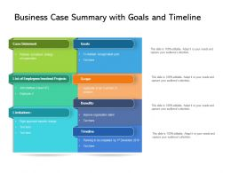 Business Case Summary With Goals And Timeline